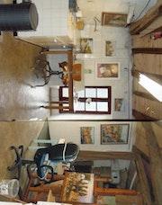 Mon atelier de peinture.