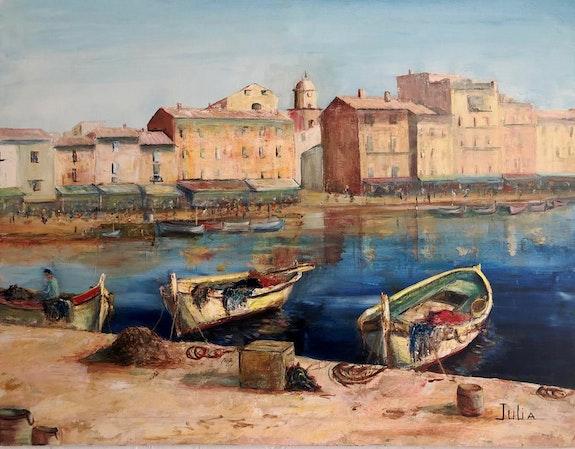 Le port de Saint-Tropez. Julia Colletto Julia. Colletto