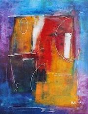 Féerie toile abstraite.