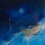 Symphonie bleue toile abstraite.