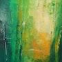 Bambou toile abstraite. Barth Mroz