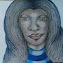 Visage de femme 2. Evelyne Patricia Lokrou