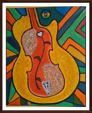 Guitarra bajo violin.