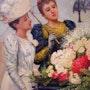 Ladies at a flowercart.. Bert Veenema