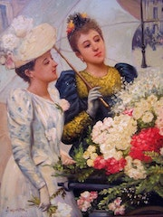 Ladies at a flowercart.. Bert Veenema