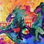 Les chevaux marins des quinconces à Bordeaux. Julie D'aragon