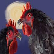Roosters. Lynda Pike