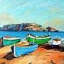 Barques de pêche. Andre Blanc