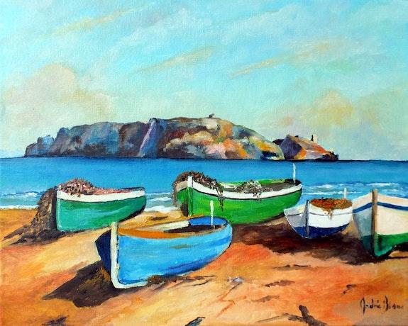 Barques de pêche. André Blanc Andre Blanc