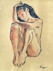 Nude (nu Assis). Dominique Dève