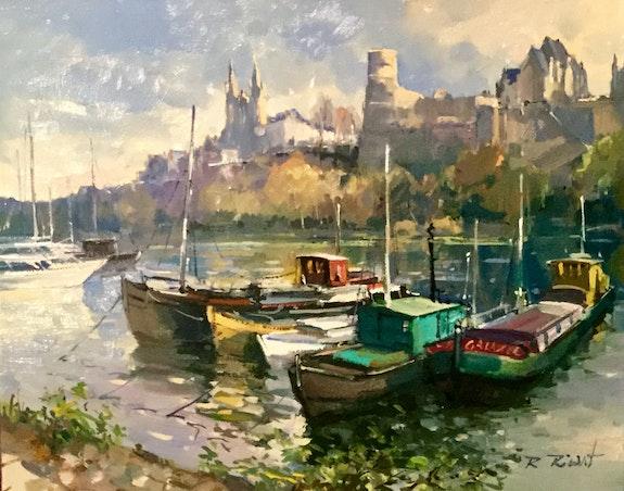 Les péniches du port d'Angers. Robert Ricart R Ricart