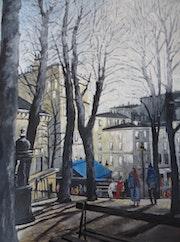 Montmartre la terrasse bleue.