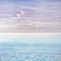 White Birds Blue Sea - large seascape oil painting. Gill Bustamante - Artist