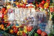 Le marché à Mirepoix, Ariège 2/3.
