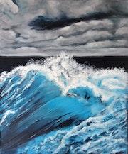 La vague bleue.