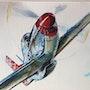 Tuskegee airmen p51d Mustang. Forangeart F. Baldinotti Peintre De l'air
