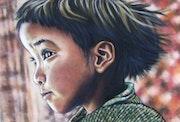 Enfant du Zanskar - Original Pastel.