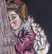 Tolden - Pastel original 47.5x47.5 cm.