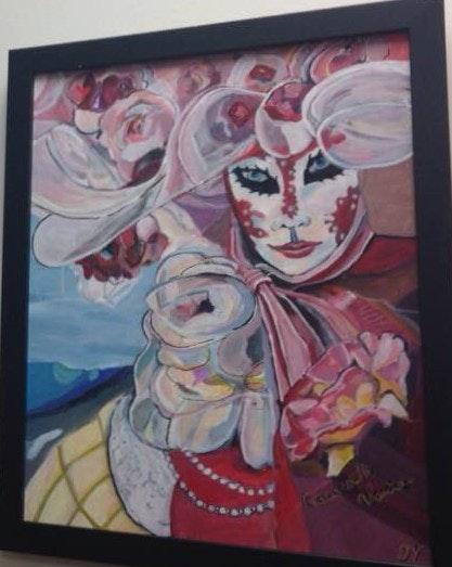Carnival of venice Lady in Pink. Janette Yeo Dreamshots Janette