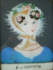 Peinture sous verre - Lilise Saltel. Annie Saltel