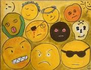 50 Nuances de jaunes, émotions médiatiques n°1, la colère en peinture.