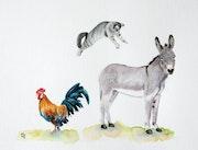 Passer du coq à l'âne.
