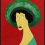 Damisela con pamela verde. Joaquín Prior Art