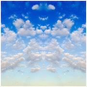 Ciel bleu et nuages blancs 03.