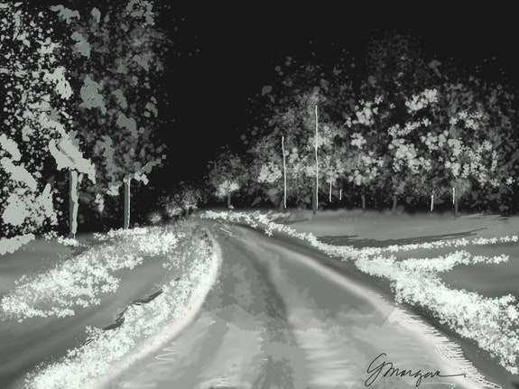 The winter drive. Gerry Morgan Morgan Art Studio