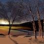 Low Winter Sun. Morgan Art Studio