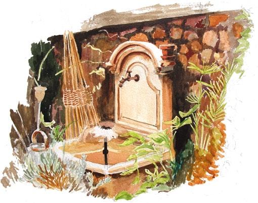 La fontaine. Claude Beretti Claude Beretti