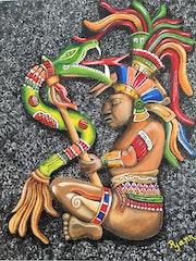 Guerrier azteque, aztec warrior.