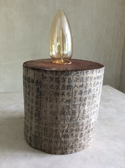 Wood block lamp. Antikasia