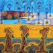 Acrylic fine art painting artist mirit ben-nun israel.
