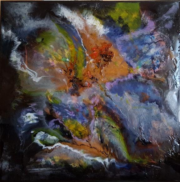 Abstrait «j» sur Bois. Patricia-Vivier-Robert Patricia Vivier Robert » Pat V »