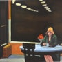 D'apres Edward Hopper. Cesar Luciano