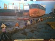 Desguace de barcos de la India. Ros