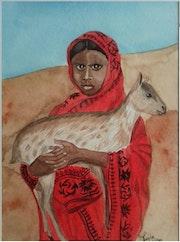 La fille et sa chèvre.