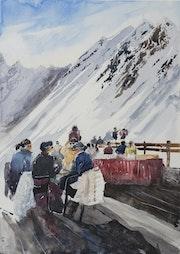 Skibar à Courchevel.