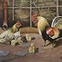 Coq et poule. Marie Colin