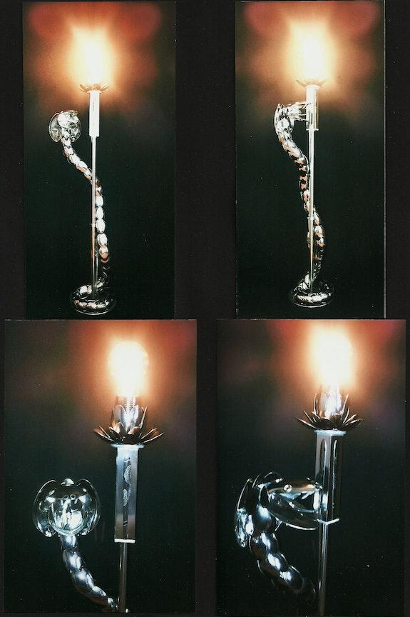 << Cobra libré >>vues différentes avec éclairage.. Thierry Ternisien Artsolite Créations