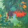 Tropical flowers no 1 by Aase Lind. Aase Lind Art