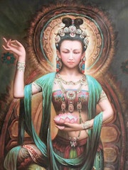 Dunhuang Oil painting and traditional Chinese painting.