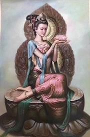 Dunhuang Oil painting and traditional Chinese painting. Olowo Art
