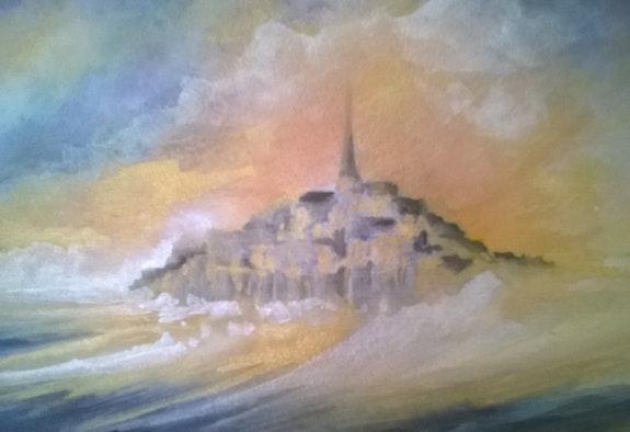 Décembre 2017 Le Mont Saint Michel dans la violence de la grande marée.  «Loulou» A. Mt. Vankerk. Mt
