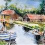 Lavoir sur le canal Ille Et Rance à Tinténiac. Laurent Colsenet