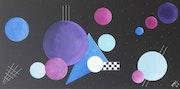 Bulles - Acrylique abstrait.