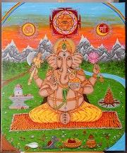 Authentique Image d'Adoration. Munesh Giri
