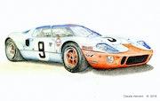 Ford gt 40 gagnante des 24 heures du Mans 1968.. Cloder100