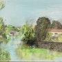 Le Lay à Mareuil sur Lay-Dissais. Joelle Wauquier